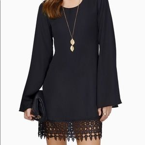TOBI Black Chiffon Bell Sleeve Dress